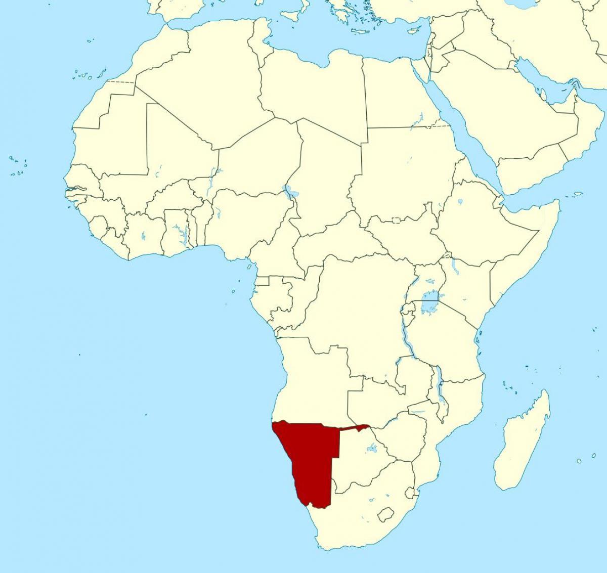Namibia Landkarte Von Afrika Karte Von Namibia Afrika Sud